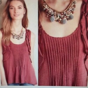Deletta | Anthropologie Boho Ruffle Top ❤️ S